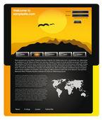 Web site design template 58 — Stock Vector