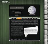 Website ontwerpsjabloon 55 — Stockvector