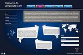 Website ontwerpsjabloon 41 — Stockvector