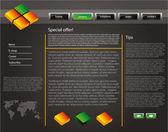 Web site design template 47 — Stock Vector