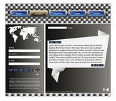 Web site design template 39 — Stock Vector
