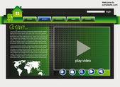 Web site design template 33 — Stock Vector