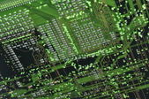 Green motherboard — Stock Photo