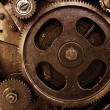 Stock Photo: Cog and wheel details from machines