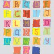 Color alphabet for children — Stock Vector