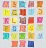 Color alphabet for children — Stockvektor