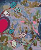 抽象水彩背景用的心 — 图库矢量图片