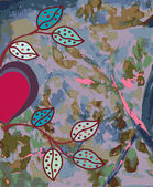 Aquarell abstrakt mit herz — Stockvektor
