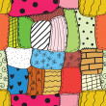 Quilt seamless wallpaper — Stock Vector