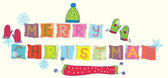 Merry christmas text funny banner — Vector de stock