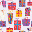 Royalty-Free Stock Vector Image: Christmas seamless pattern with gifts