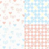 Baby seamless pattern set — Stock Vector