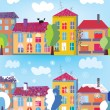 Royalty-Free Stock Vector Image: Town in summer and winter banner