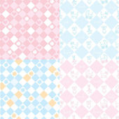 Seamless patterns for the baby — Stock Vector