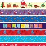 Christmas ribbons set — Stock Vector