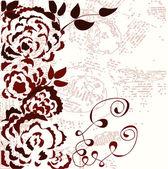 Růže grafické grunge pozadí — Stock vektor