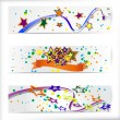Stok Vektör: Set of 160x600 abstract banners.