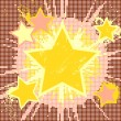 Grunge star background. - Stock Vector