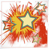 Vector background of explosion star. — Stock Vector