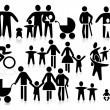Vector de stock : Family pictogram