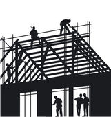 Roofers — Vector de stock