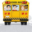 Yellow school bus - Stock Vector