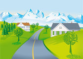 Country road — Vector de stock