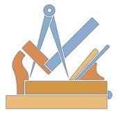 Carpenters' guild — Stock Vector