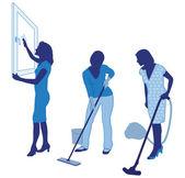 уборка дома — Cтоковый вектор
