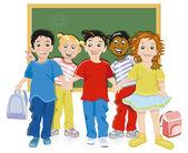 Kinderen op school — Stockvector