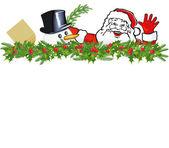 Greetings from Santa Claus — Stock Vector