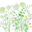 Dandelion and grasses — Stock Vector #7657380