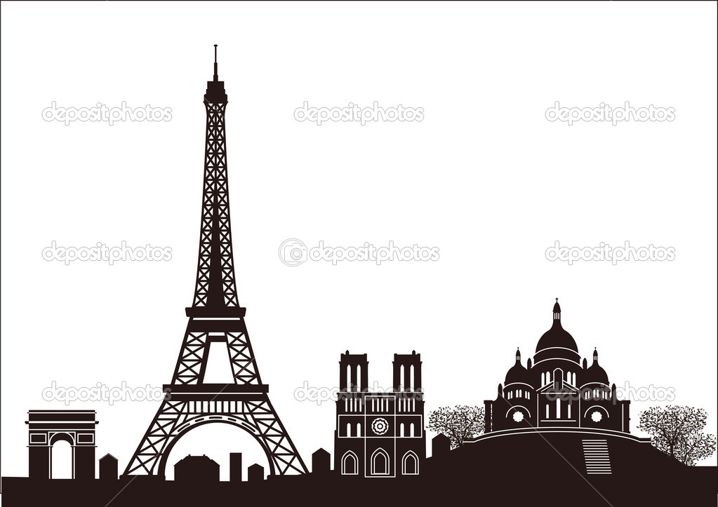 Paris skyline — Stock Vector #7883380