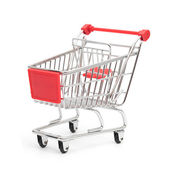 Shopping cart top view — Stock Photo