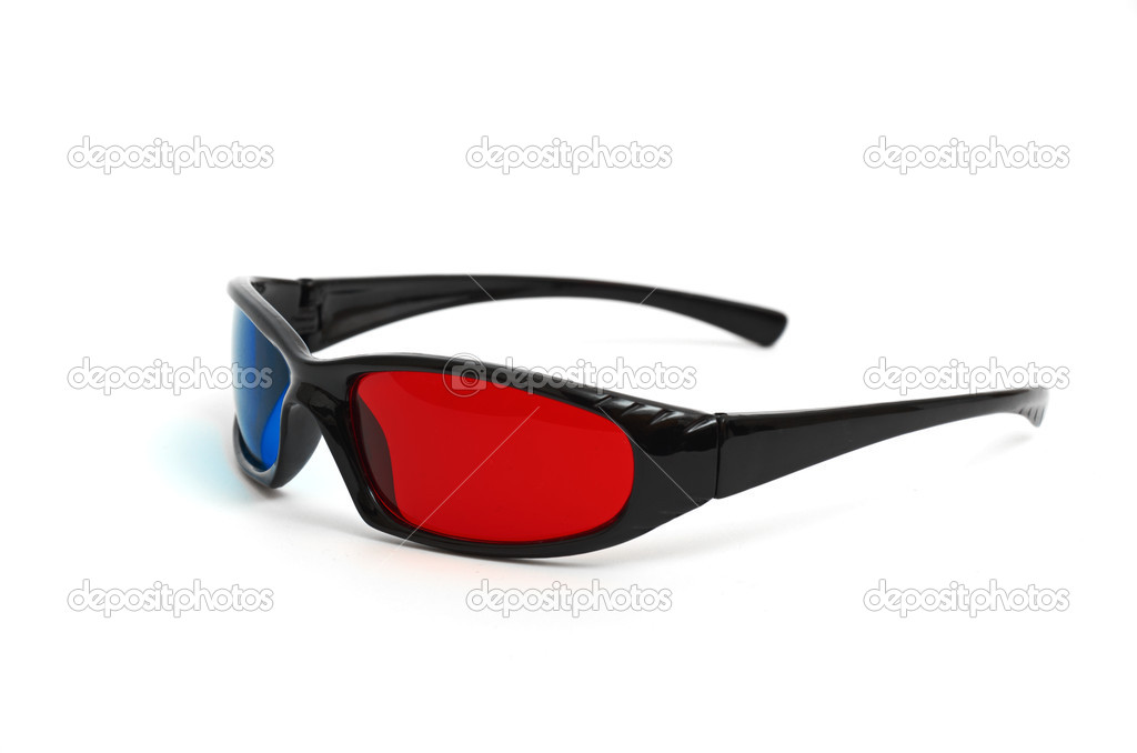 One pair of 3D glasses isolated in white  Stock Photo #6857341