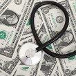 Stethoscope and dollars — Stock Photo #6956889