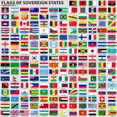 Bandiere di stati sovrani — Vettoriale Stock