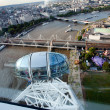 London city from birds view as seen from London Eye — Stock Photo