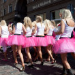 Go Blonde parade in Riga — Stock Photo