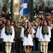 Griekse color guard op militaire parade — Stockfoto