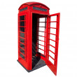 Old red telephone box in London — Stock Photo #7924297