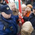 Постер, плакат: The Police preclude to use the symbols of Soviet Union