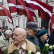 Commemoration of the Latvian Waffen SS unit — Stock Photo
