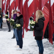 Stock Photo: Commemoration of LatviWaffen SS unit or Legionnaires