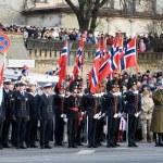 Norwegian Honour Guard at Military parade — Stock Photo