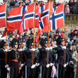 Norwegian Honour Guard at Military parade — Stock Photo