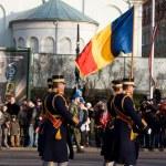 Romanian Color Guard at parade — Stock Photo