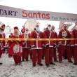 Santas Fun Run & Walk in Riga, Latvia - Stock Photo