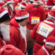 Stock Photo: Santas Fun Run & Walk in Riga, Latvia