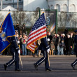 USA Color Guard at parade — Stock Photo